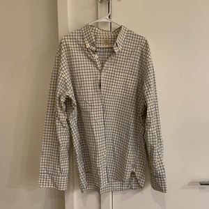 Blue and Yellow Checked J.Crew Button Down